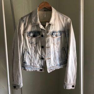 Free people bleached jean jacket